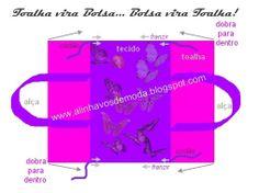 Alinhavos de Moda : Toalha vira bolsa... Bolsa vira toalha!