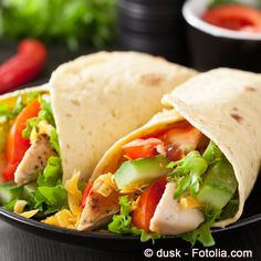 Der ideale Partysnack sind: Schlemmer Wraps/ the ideal snacks for party are: sybarite wraps