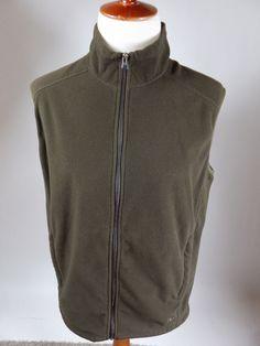 REI Camp Hike Fish White River Fleece Sleeveless Jacket Coat Vest Brown Men XL #REI #HikingVest