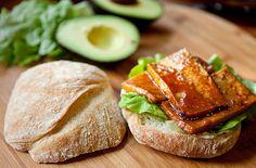 Maple Dijon Tofu Sandwich on Fresh Ciabatta by teenytinyturkey, via Flickr