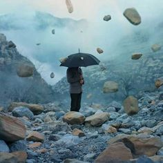It's raining rock: Mysterious surreal photography