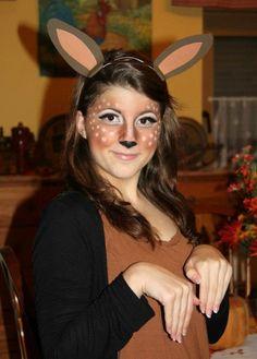 DIY Deer Costume/Makeup for Halloween