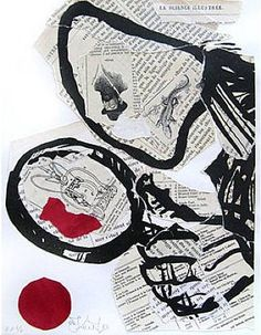La Science Illustre (Nose and Magnifying Glass) // William Kentridge