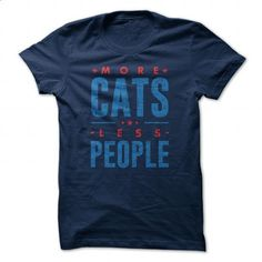 More Cats Less People #1 (2col) - #pullover hoodies #hoodies for girls. GET YOURS => https://www.sunfrog.com/Pets/More-Cats-Less-People-1-2col-105850027-Guys.html?60505