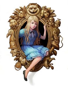 Illustrations for Class by Lyndsey Vu ~ Alice in Wonderland - Could do something with pretty much EVERY Disney movie