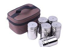 6Pcs Stainless Steel Salt Sugar Spice Pepper Seasoning Jars   #Discount #Buy #New #Trend #Hot #Sale