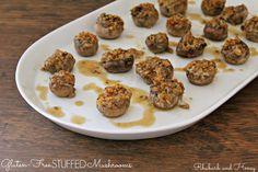 Gluten-Free Stuffed Mushrooms {Rhubarb and Honey}