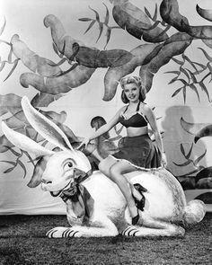 Easter Bunny & Gloria DeHaven 1944