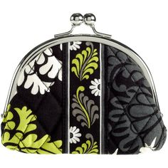 Vera Bradley Double Kiss Coin Purse ($20) ❤ liked on Polyvore