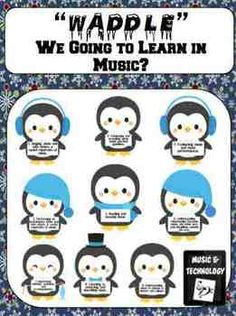 """""""Waddle"""" We Going to Learn in Music? Bulletin Board Set- A cute penguin themed bulletin board that displays the 9 National Music Standards. Classroom Displays, Music Classroom, Classroom Themes, Class Bulletin Boards, Teacher Stuff, Teacher Tools, Class Decoration, Elementary Music, Music For Kids"""