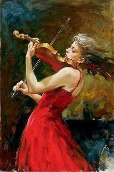 Osservare una donna che suona il violino  è come vedere una rosa che sta sbocciando,,,,,