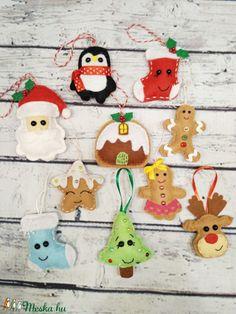 Filc karácsonyfa dísz szett illatosított egész fahéjjal szegfűszeggel (olzsiv) - Meska.hu Christmas Crafts For Gifts, Christmas Time, Advent Calenders, Projects To Try, Craft Ideas, Diy, Amigurumi, Bricolage, Advent Calendar