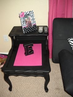 image of two tiered end table paint idea