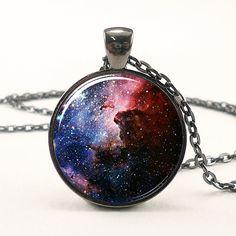 Carina Nebula Necklace Galaxy Jewelry Universe Pendant by rainnua, $14.45