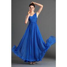 O rochie eleganta de seara din voal de matase intr-o nuanta minunata de albastru royal.