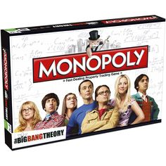 Monopoly The Big Bang Theory € La exitosa serie TBBT te trae la edicion de Monopoly The Big Bang Theory….no te quedes sin ella. De 2 a 6 jugadores. Monopoly Board, Monopoly Game, Big Bang Theory Trivia, Tbbt, Super Collider, The Big Band Theory, Physics Department, Family Board Games, Traditional Games