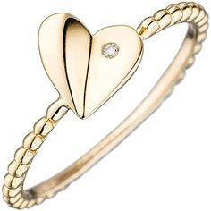 """Dreambase Damen-Ring """"Herz"""" 1 Diamant-Brillant 14 Karat (... https://www.amazon.de/dp/B0147RPC4K/?m=A37R2BYHN7XPNV"""
