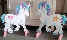 NEW 2 x PONIES hand painted show jump fillers wings pony horse show farm events