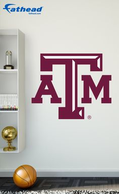 This high-def Aggie wall decal is made with a premium vinyl that is resistant to fading and tearing. Also, the self-adhesive backing of this Texas A&M wall art is safe for walls, so you do not have to worry about tape, tacks or putty to install your premium Fathead wall decal. SHOP http://www.fathead.com/college/texas-a-and-m-aggies/texas-a-m-aggies-logo-transfer-wall-decal/ | DIY Bedroom Decor for Boys + Girls | Peel & Stick | Man Cave