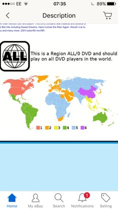 See next image for info = here are all the different worldwide DVD zones ie UK = zone 2 = ps zone 0 is universal ( well maybe not everywhere in the universe though !! ) but zone 0 will play in EVERY area so if you see zone 0 you are OK ✅