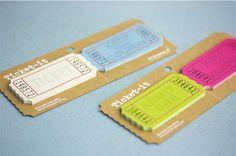 Sticky note ticket stubs