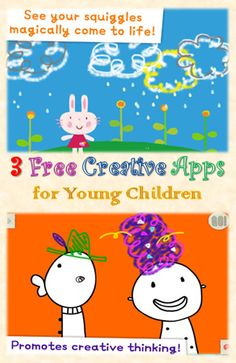 3 free creative doodling apps for kids from Lazoo - full of surprises. Young children can play without help, can play with a group too. Great for imagination and fine motor skills Learning Apps, Learning Tools, Learning Activities, Kids Learning, Art Activities For Kids, Toddler Activities, Games For Kids, Art For Kids, Free Educational Apps