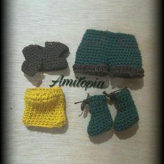 "7 Likes, 1 Comments - Amitopia (@amitopiaa) on Instagram: ""#amitopia #crochetdollclothes #crochetshoes #crochetshorts #crochettop #crochetjacket #crocheting…"""