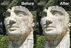 Using the Clone Stamp and Healing Brush tools in Photoshop...