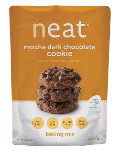 Neat Mocha Dark Chocolate Cookie Mix Vegan cookies made with the neat egg. Enjoy cookies that are gluten-free, soy-free, and healthy as they are delicious.