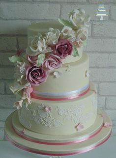 Pretty in Pink... first Wedding cake of 2015 - Cake by Clare's Cakes - Leicester