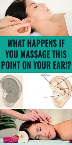 Relieve stress by massaging your ear in this manner Health And Fitness Tips, Health And Nutrition, Health And Beauty, Health Tips, Health And Wellness, Health Care, Ear Massage, Anxiety Relief, Migraine Relief