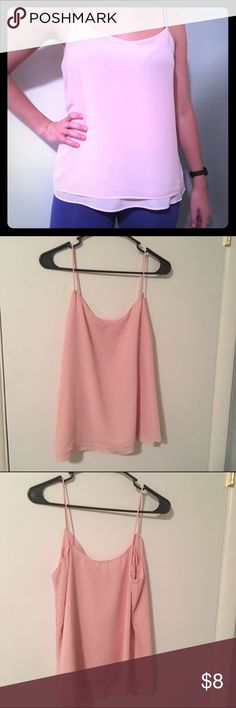 NY&Co Dusty Pink Layered Camisole NY&Co Dusty Pink Layered Camisole. Great condition. Soft and stylish. Looks awesome under a blazer or paired with a cardigan. Easy to dress up with a skirt or dress down with jeans. Size M: New York & Company Tops Tank Tops