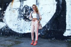 Anna Gotsyk - Zara Bomber, Stradivarius Pants, Prada Bag, Boden Shoes - Silk. Summer. Pastels.