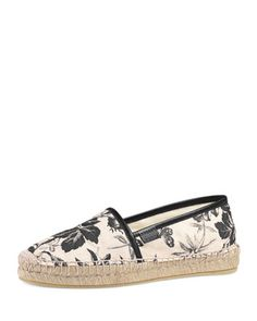 Pilar+Printed+Canvas+Espadrille,+Nero+by+Gucci+at+Bergdorf+Goodman.