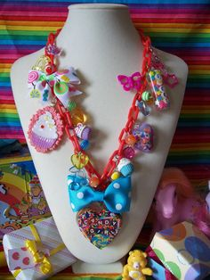 Candy Girl Overkill Charm Necklace