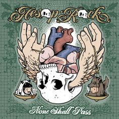 Aesop Rock, None Shall Pass. Art by Jeremy Fish. Perfect balance of detail, despair & wit. And the music ain't bad either. Historia Do Rap, The Giant Peach, Thing 1, Lp Vinyl, The Wiz, Music Albums, Album Covers, Musicals, Music