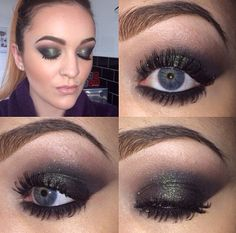 Smokey green eyes using Urban Decay Moondust eyeshadow in Zodiac