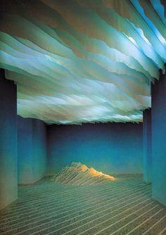 Art Installation - by Emilio Ambasz, Residence au Lac Conception Scénique, Desgin, Illusion Kunst, Instalation Art, Wow Art, Scenic Design, Light Reflection, Art Abstrait, Stage Design