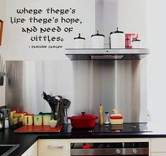 Wall Decal Quote - JRR Tolkien quote from Lord of the Rings by Sam about food - Removable Vinyl decal quotes 22inch