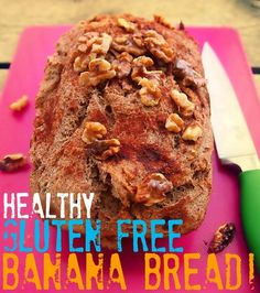 Healthy Gluten Free Banana Bread! *2 Cups Flax & Whole Grain All-Purpose Flour GF *1 Tbsp Ground Cinnamon, *1 Tsp Baking Powder, *1 Tsp Baking Soda, *1 Heaping Tbsp Coconut Oil, *6 Packets Stevia *4 Medium Extra Ripe Bananas, *1 Tbsp Unsweetened Almond Milk *2 Large Eggs, *1 Cup Unsweetened Apple Sauce, *1/4 Cup Vanilla Greek Yogurt, 1 Tsp Vanilla Extract. Optional *Walnuts,