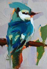 Blue Jay no. 45 original bird oil painting by Angela Moulton ACEO Bird Drawings, Palette Knife, Blue Jay, Animal Paintings, Bird Art, Painting Inspiration, Collage Art, Creative Art, Flower Art