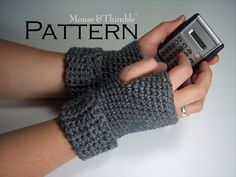 Fingerless Gloves - Crochet PATTERN with Reference PHOTOS - Printable Download PDF 1010 on Etsy, $4.50