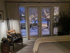 Mater Bedroom after, a rare BC winter wonderland :)