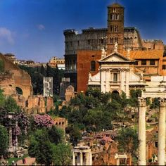📷 A window to the past.View to Roman Forum, Rome, Italy. Roman Forum, Rome Italy, The Past, Earth, Windows, Mansions, House Styles, World, Photography
