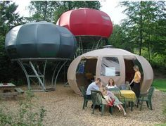 Now we're speaking glamping. Dré Wapenaar's Uncommon Tents: Clever En....  Take a look at even more at the photo link