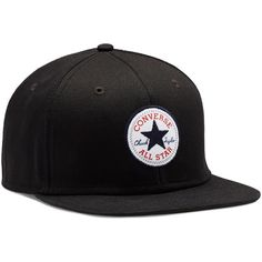 Converse Snapback Hat – black ($25) ❤ liked on Polyvore featuring accessories, hats, caps, black, cotton hats, converse hat, snap back hats, snapback hats and snapback cap