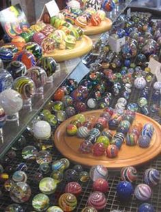 Moon Marble Company in Bonner Springs, KS. Watch a demo of the marble making process. How fun is that? Marble Toys, Marble Art, State Of Kansas, Kansas City Missouri, Traditional Toys, Glass Marbles, Bonner Springs, Glass Paperweights, Glass Ball