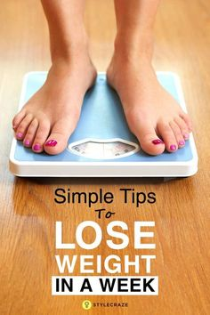 Well, weight loss does take time. But there is some good news too – you can lose weight in as little time as a week. How To Lose Weight In A Week - 23 Simple Tips