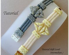 PROJECT SKILL LEVEL: intermediate LANGUAGE: English  This is a DIGITAL FILE only. No beads and no finished product are included in this sale.  Downloadable PDF file will be available once payment is confirmed. No refund will be issued after the tutorial has been downloaded.  This tutorial includes detailed step by step instructions with lots of computer diagrams and 2 photos of the completed project for visual help. Also included are the beads colors, numbers, brands/manufacturers and wh...
