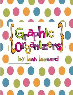 This set of graphic organizers would be great to use during a reading lesson, after a read aloud,or literacy centers!! This graphic organizer set i...